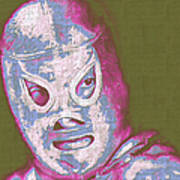 El Santo The Masked Wrestler 20130218v2m168 Print by Wingsdomain Art and Photography
