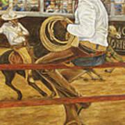 El Vaquero Que Ata Art Print