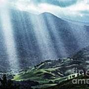 El Yunque And Sun Rays Art Print