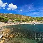 Elba Island - Beach In Seccheto  Art Print