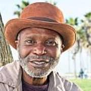 Elderly Black Man Smiling Art Print