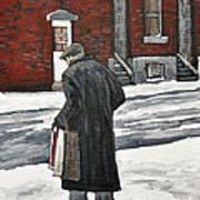 Elderly Gentleman  In Pointe St. Charles Art Print