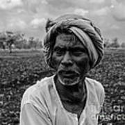 Elderly Indian Farmer Art Print