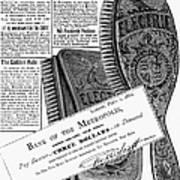 Electric Brushes, 1882 Art Print
