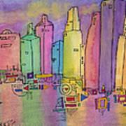 Electric City Art Print