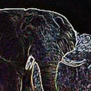 Electric Elephant Art Print