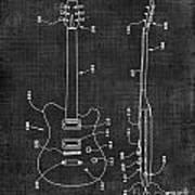 Electric Guitar Patent 039 Art Print