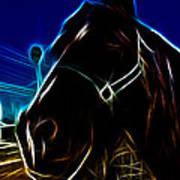 Electric Horse Art Print
