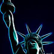 Electric Liberty Art Print