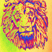 Electric Lion Art Print