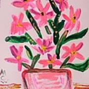 Electric Pink Flowers Art Print