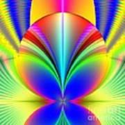 Electric Rainbow Orb Fractal Art Print