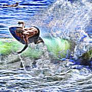 Electric Splash Art Print