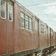 Electric Train Art Print