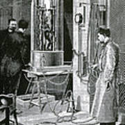 Electroplating The Dead, 1891 Art Print