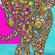 Elefantos - Bg01ac02 Art Print by Variance Collections