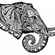 Elegant Elephant Art Print