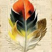 Elegant Feather-c Art Print