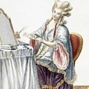 Elegant Lady At Her Dressing Table Art Print by Pierre Thomas Le Clerc