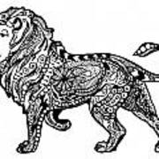 Elegant Lion Art Print