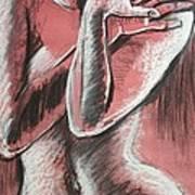 Elegant Pink - Nudes Gallery Art Print