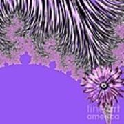 Elegant Tentacles Purple And Lilac Art Print