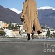 Elegant Woman Walking Art Print