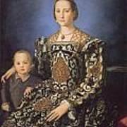 Eleonora Ad Toledo Grand Duchess Of Tuscany Print by Agnolo Bronzino