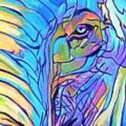 Elephant - Sky Blue Art Print