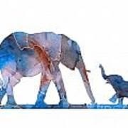 Elephant 01-3 Art Print