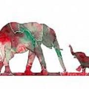 Elephant 01-6 Art Print
