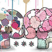 Elephant Confection Art Print
