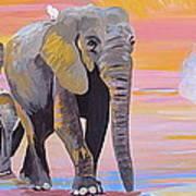 Elephant Fantasy Must Open Art Print