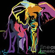 Elephant In Colour Art Print