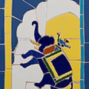 Elephant Rider Art Print