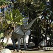 Elephant Show In Marbella Art Print