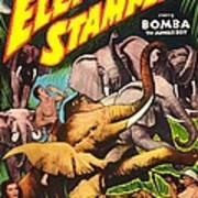 Elephant Stampede, Aka Bomba And The Art Print