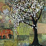 Elephant Under A Tree Art Print