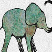 Elephant Water Color Art Print