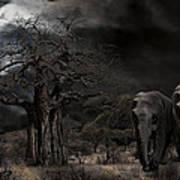 Elephants Of The Serengeti Art Print
