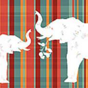 Elephants Share Art Print by Alison Schmidt Carson