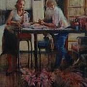 Elette De Wet And Uncle Jacques Art Print