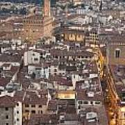 Elevated View Of Florence Art Print
