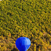 Elevated View Of Hot Air Balloon Art Print