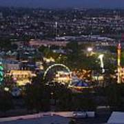 Elevated View Of The 2011 San Mateo County Fair Art Print