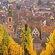Elevated View Of The Riquewihr Art Print