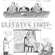 Elevator Pants Art Print