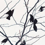 Eleven Birds One Morsel Art Print
