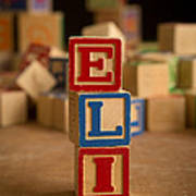 Eli - Alphabet Blocks Art Print