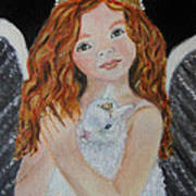 Eliana Little Angel Of Answered Prayers Art Print